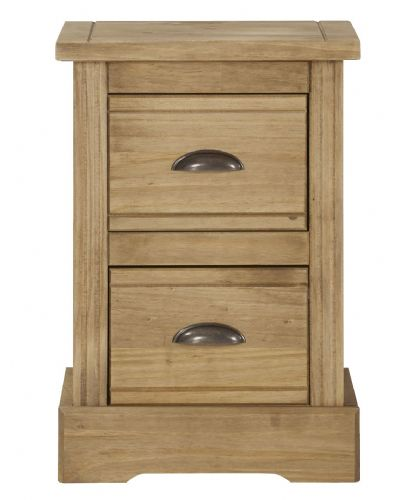 Falkirk Bedroom Compact 2 Drawer Bedside